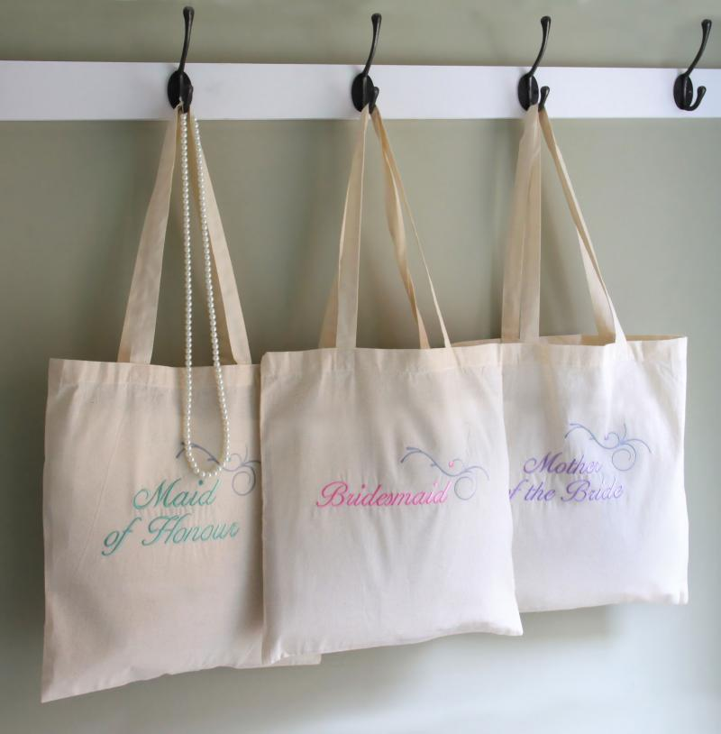 Personalised Wedding Favour Bags : Home Wedding Personalised Cotton Bag, Wedding Favour