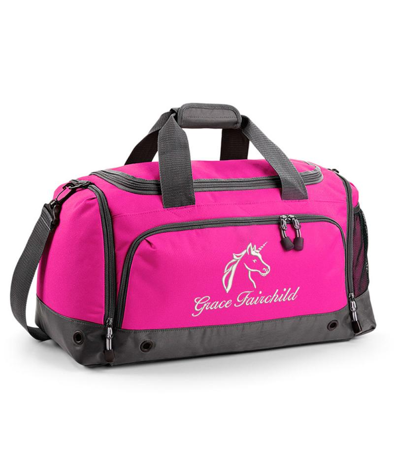 Personalised Unicorn Holdall Bag Withcongratulations