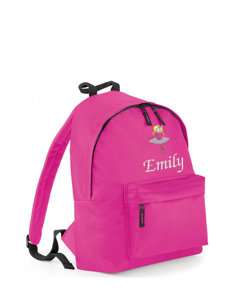 School bag embroidery -  Personalised Embroidered Ballet Backpack