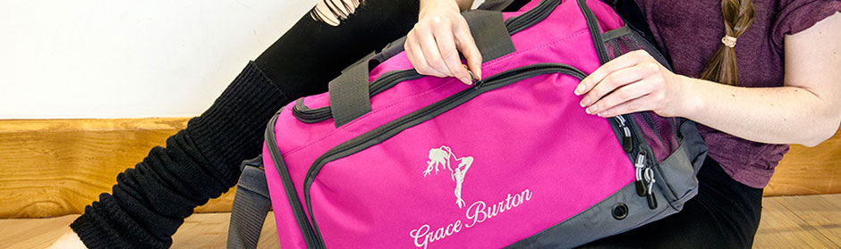 personalised dance bags