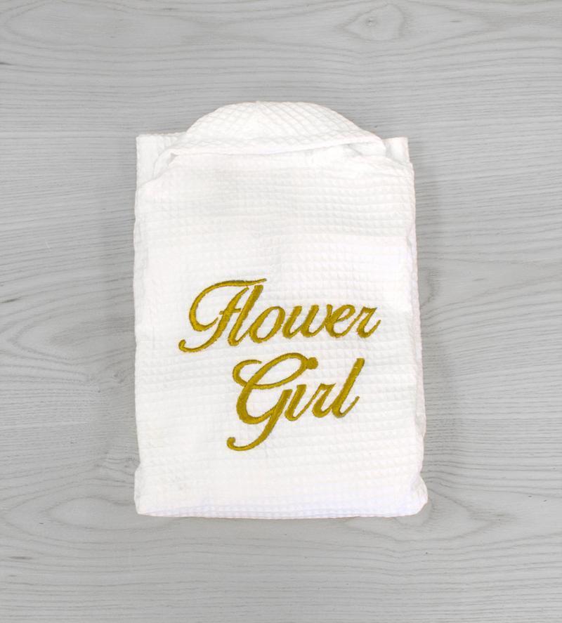 Wedding Waffle Flower Girl Dressing Gowns - 2-3 ys, Gold ...