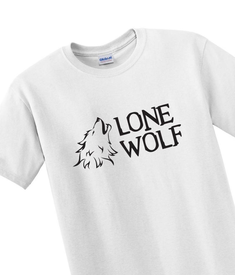 lone wolf t shirt withcongratulations. Black Bedroom Furniture Sets. Home Design Ideas