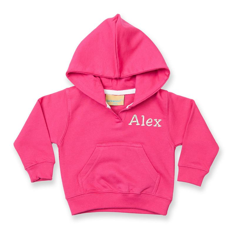 Personalised Embroidered Baby Hoodie With Pocket Hot
