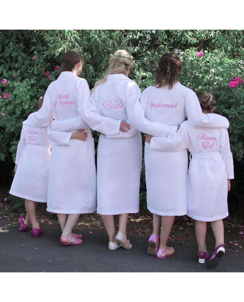 Personalised Bridesmaid Bridal Party Waffle Dressing