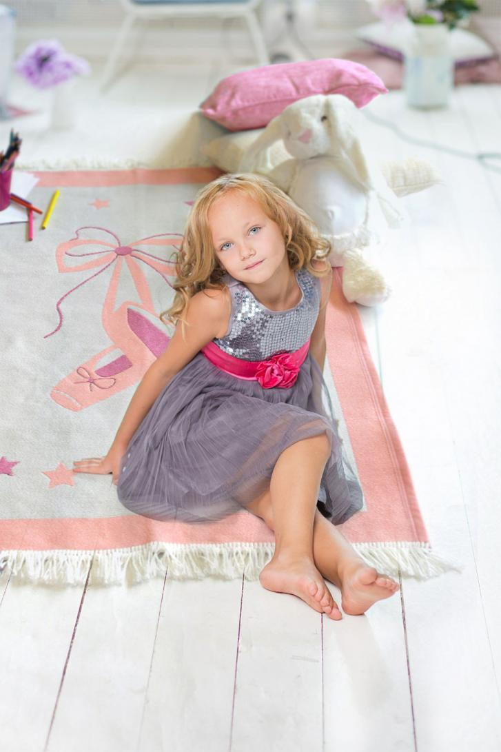 Kids Play Rug With Ballet Design Woven Withcongratulations