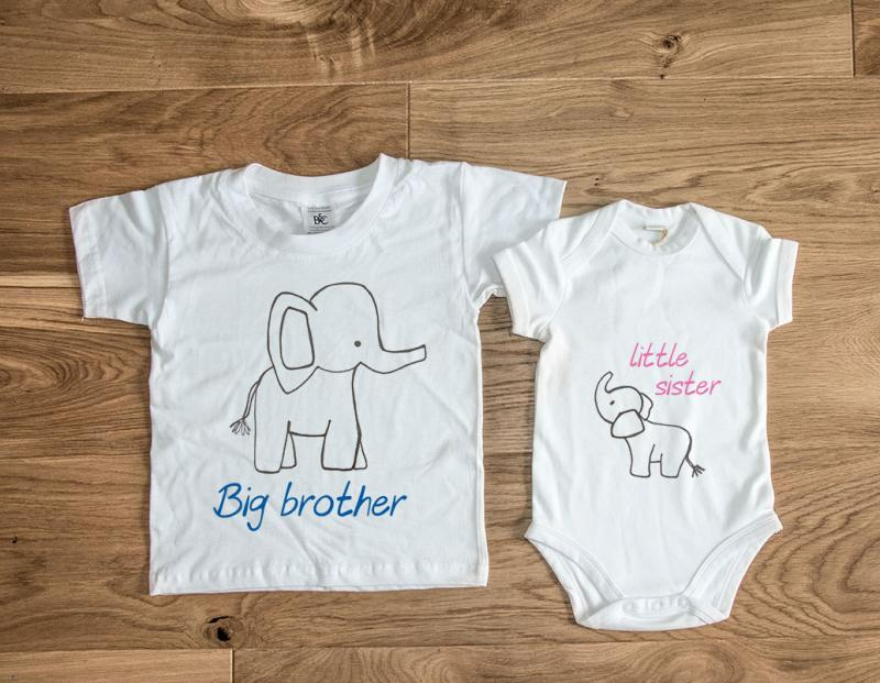 Brother Amp Sister Matching Elephant T Shirts Short