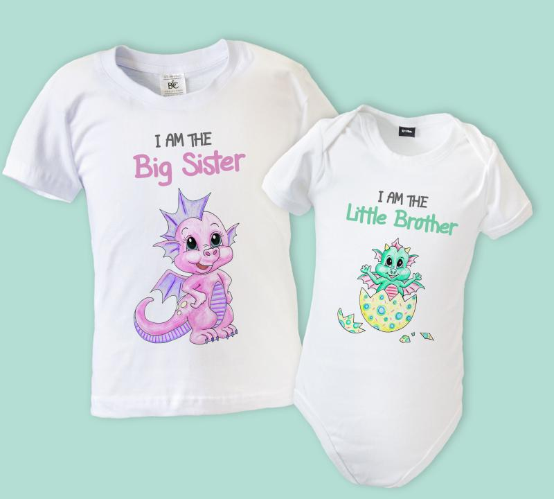 Big Little Brother Sister Matching T Shirt Amp Babygrow
