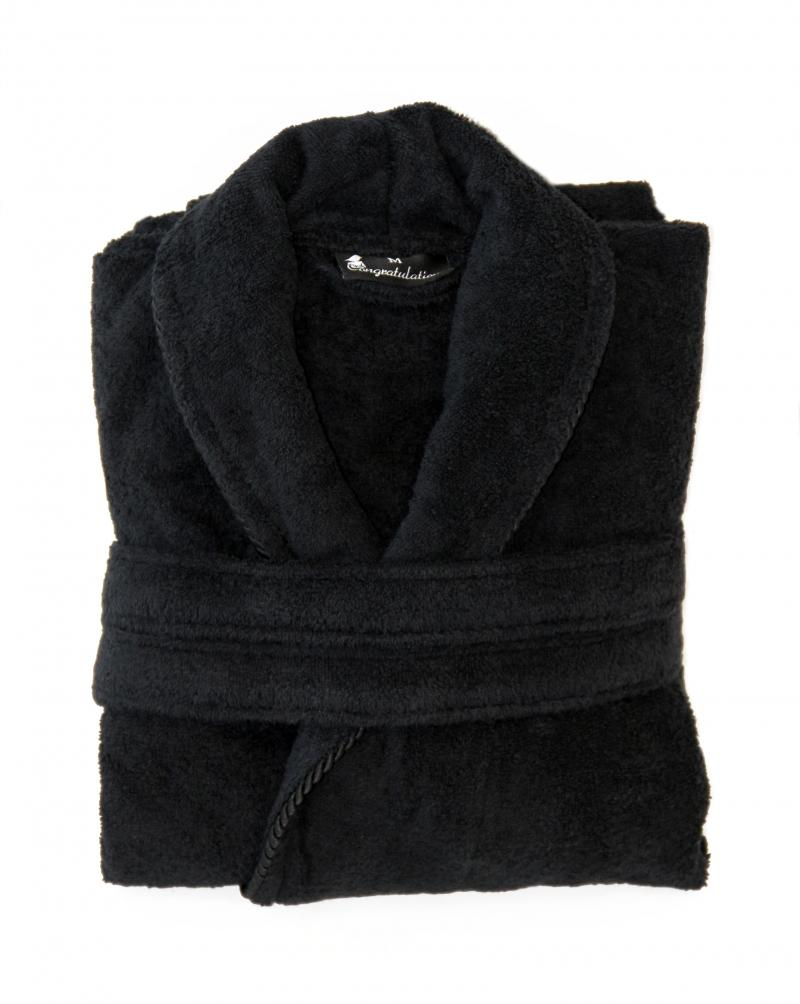 Personalised Bathrobes Black For Her Shawl