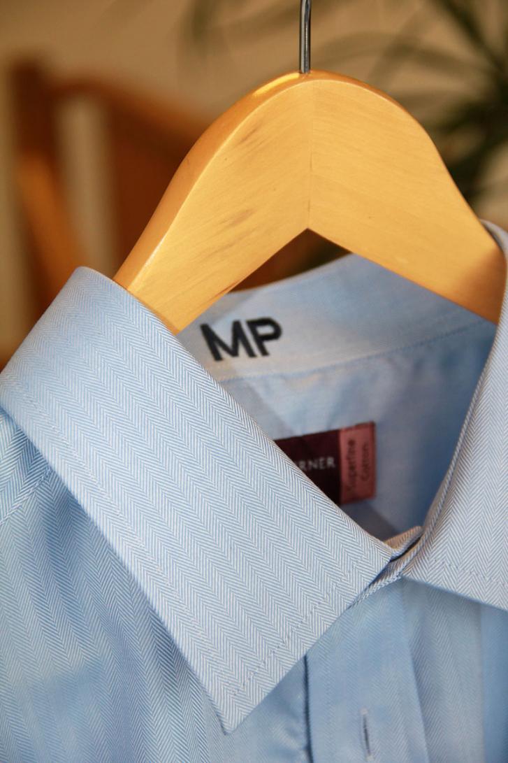 double cuff brook taverner blue shirt
