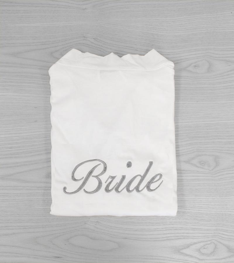 White Bride Jersey Dressing Gowns - Silver, Ballentines Font ...