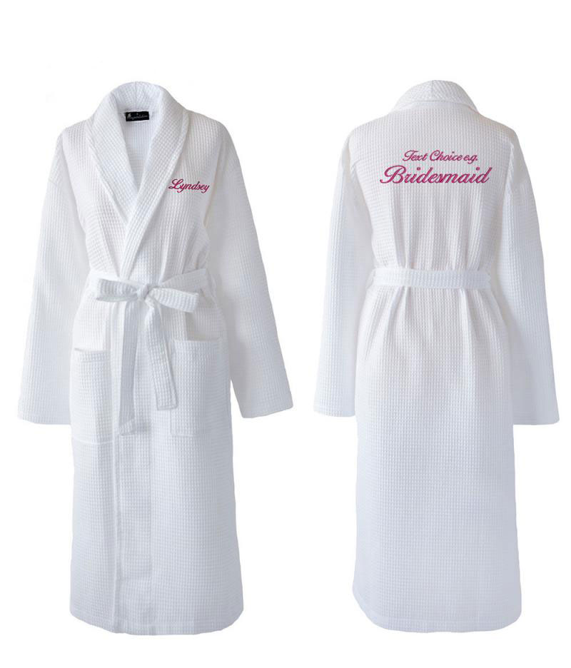 Wedding Dressing Gowns Personalised: Personalised Bridesmaid / Bridal Party Waffle Dressing