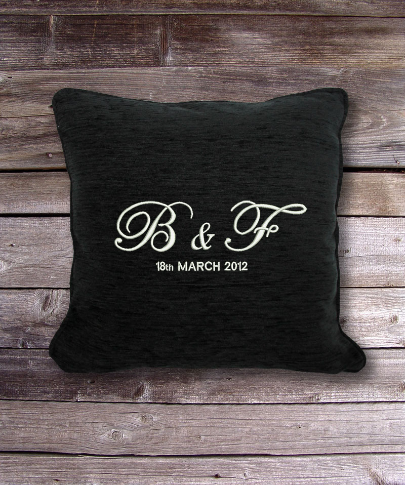 Personalised Cushion Amp Cover Initials Amp Date