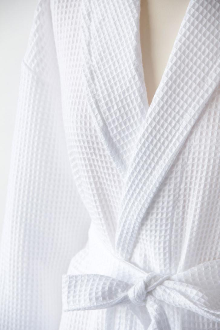 Personalised White Waffle Cotton Dressing Gown | WithCongratulations