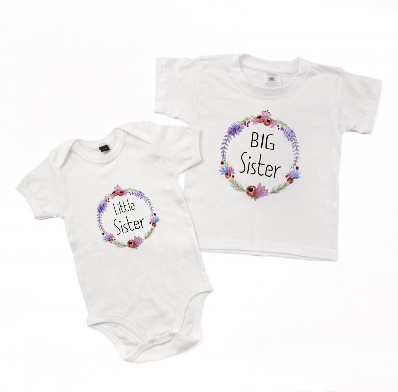 Big Sister Little Sister T Shirt Amp Babygrow Floral