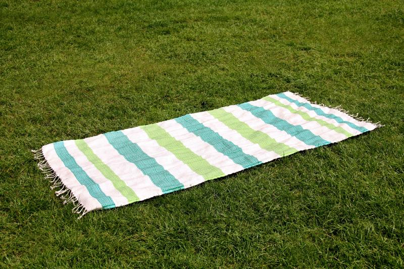Personalised Teal Green Beach Towel Bamboo Cotton
