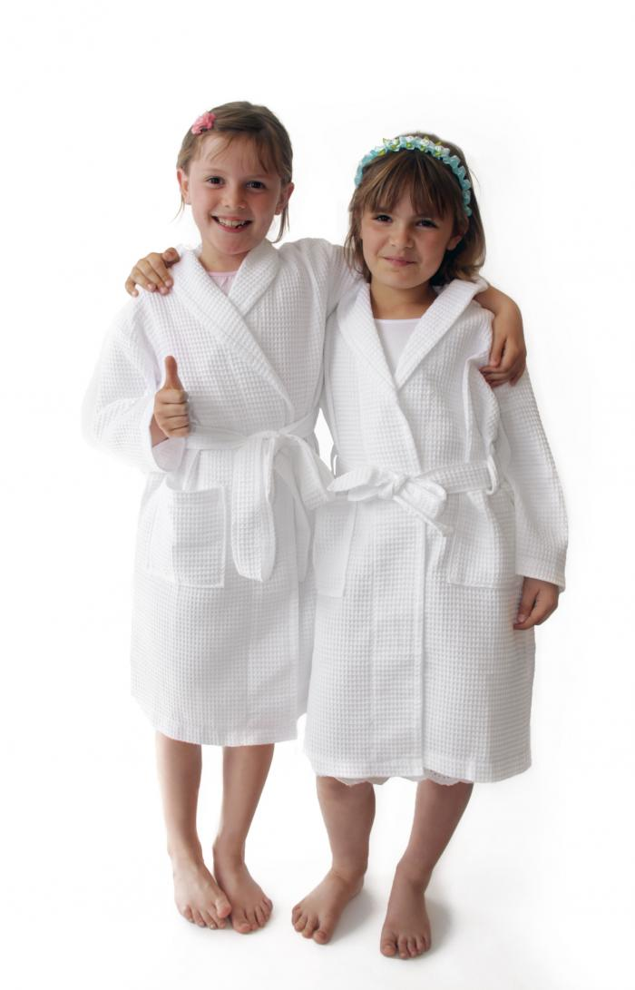 Personalised White Children S Waffle Bathrobe