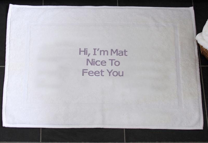Funny Slogan Bath Mat I Am Mat Nice To Feet You