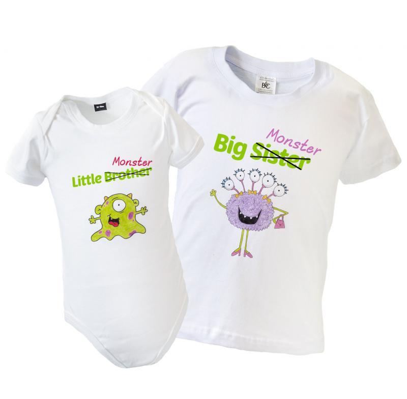 Big Little Brother Sister Matching T Shirt Amp Babygrow