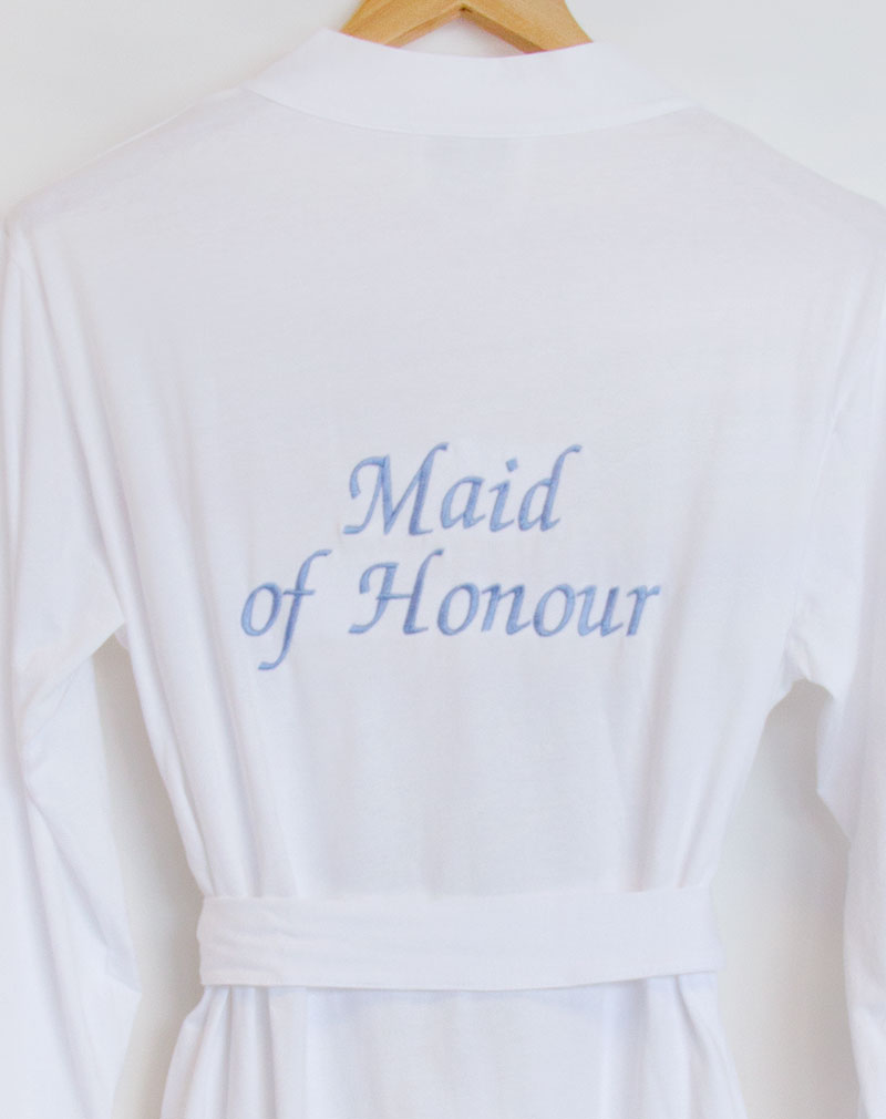 Personalised Bridesmaid Bridal Party White Jersey
