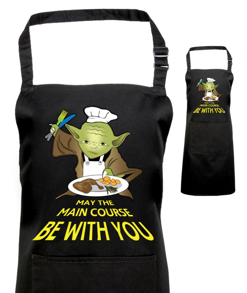 Printed Yoda Apron Fan Of Star Wars Withcongratulations