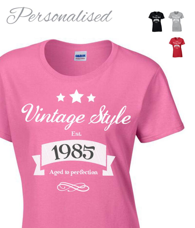 Vintage Ladies 30th 40th 50th Birthday T Shirt