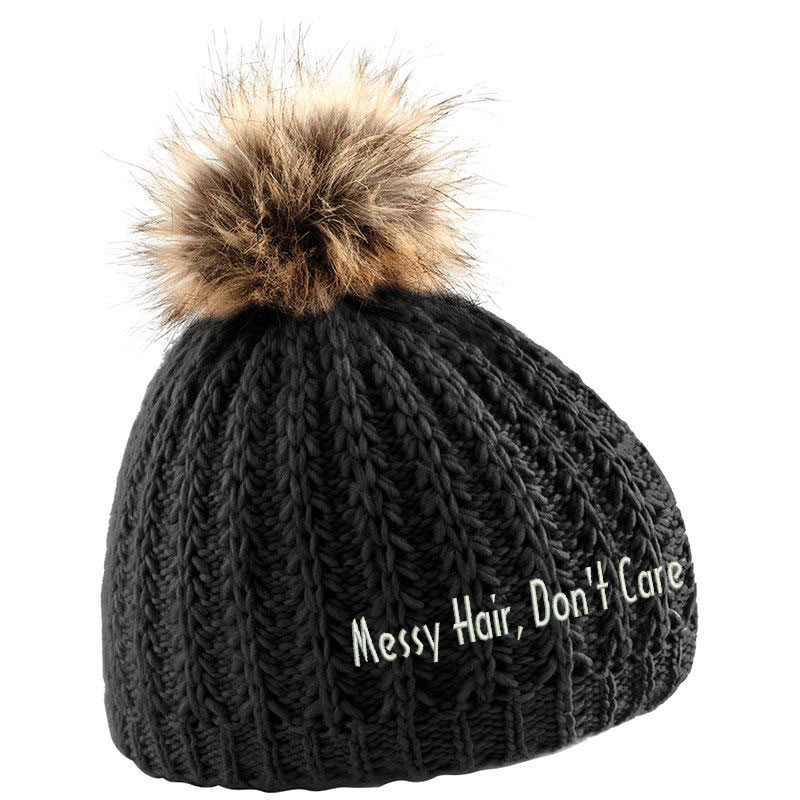 f7b27b0813b10 ... messy hair don t care hat bad hair day hat embroidered hat