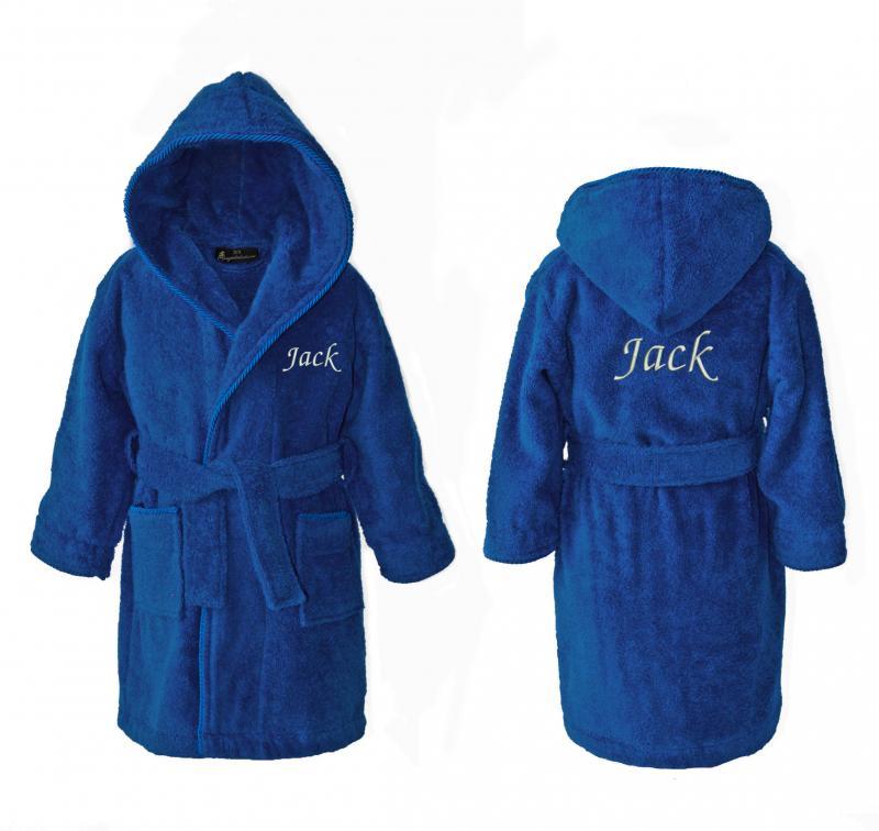 Personalised Children\'s Dressing Gowns - Dark Blue (2-15ys ...