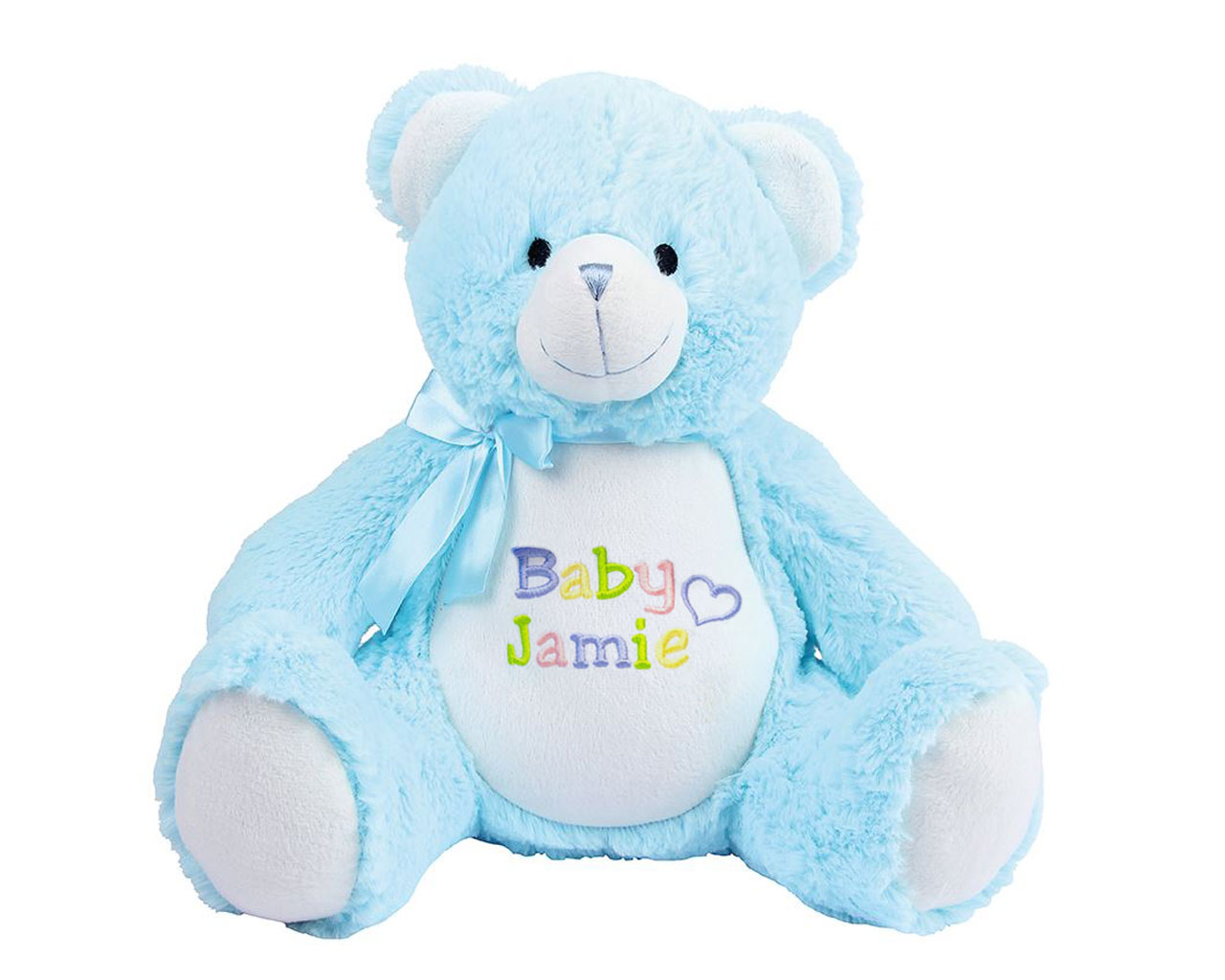 Personalised New Baby Teddy Bear Withcongratulations