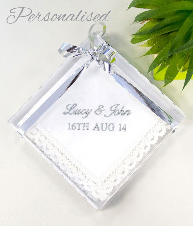 Cotton Wedding Gift: Personalised Cotton 2nd Wedding Anniversary Gift For The