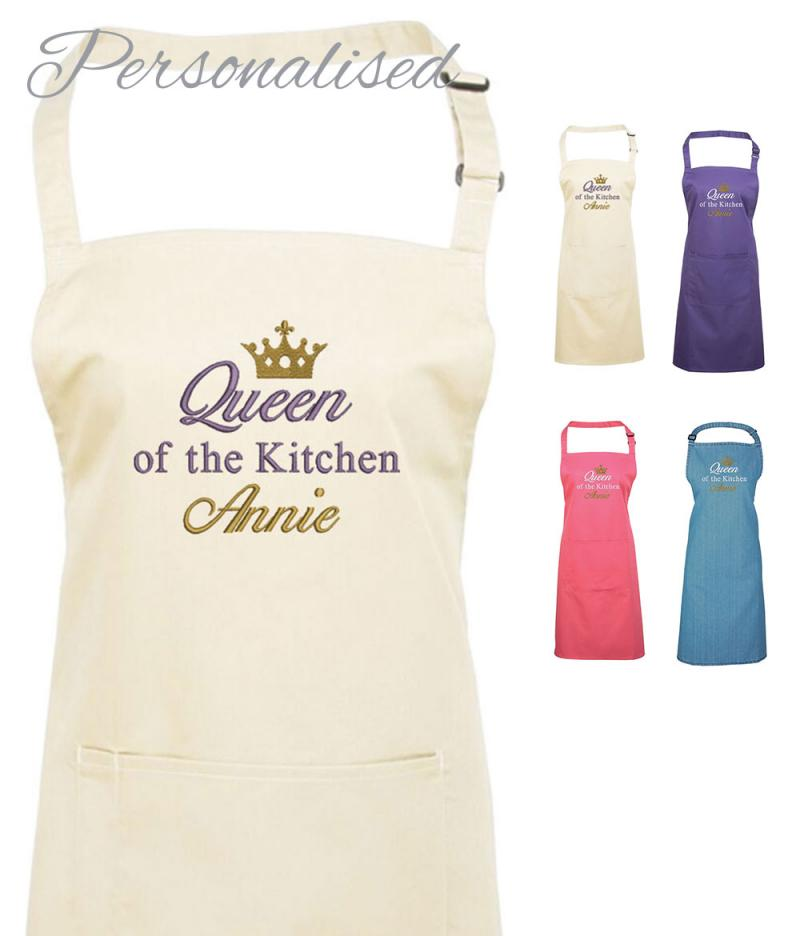 Personalised Queen of the Kitchen Apron | WithCongratulations