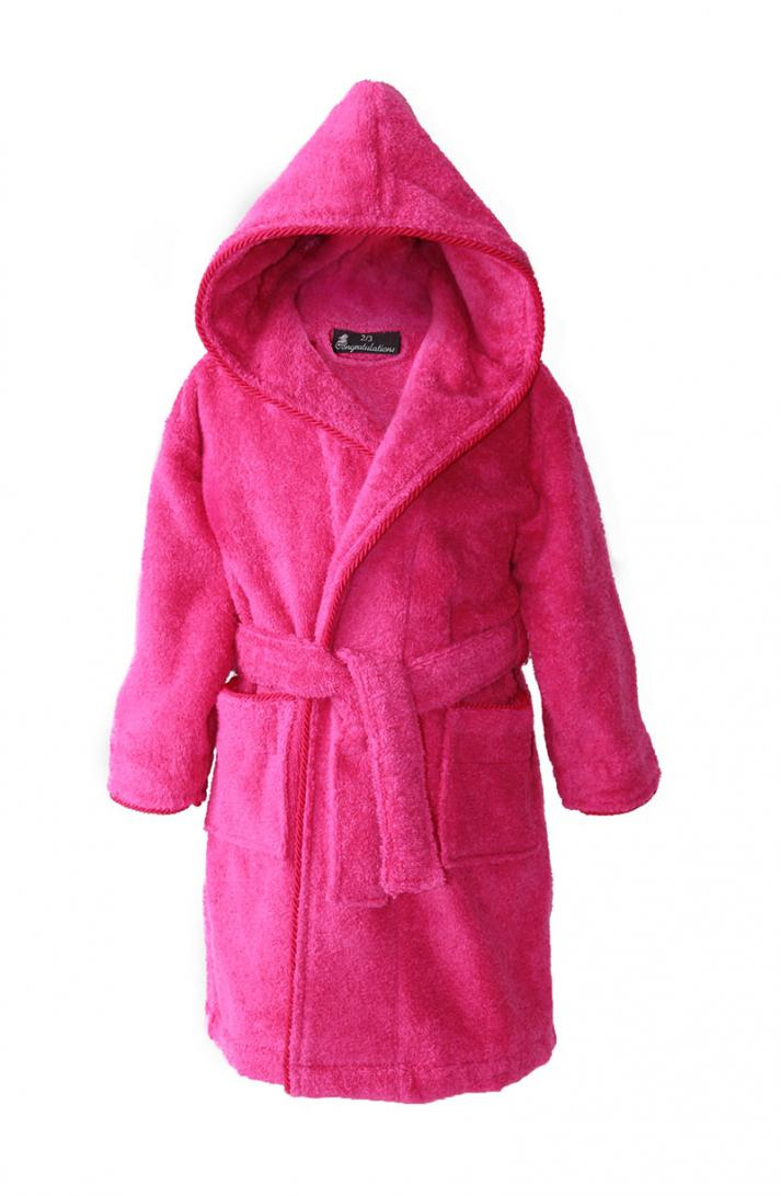 Personalised Kids Dressing Gowns Hot Pink 2 15ys