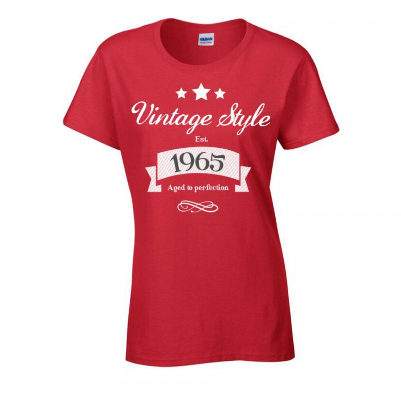 Vintage Ladies 30th 40th 50th Birthday T Shirt Withcongratulations