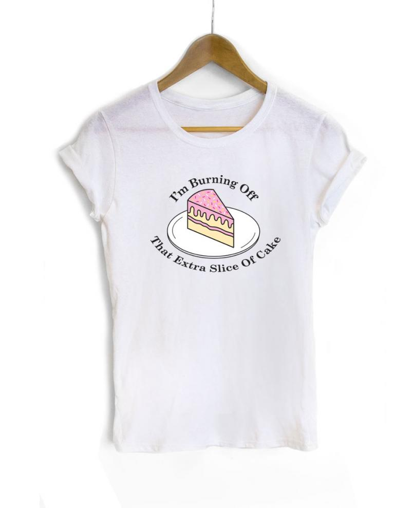 77fb0ecd9 Gym t-shirt with Printed Cake Slogan | WithCongratulations