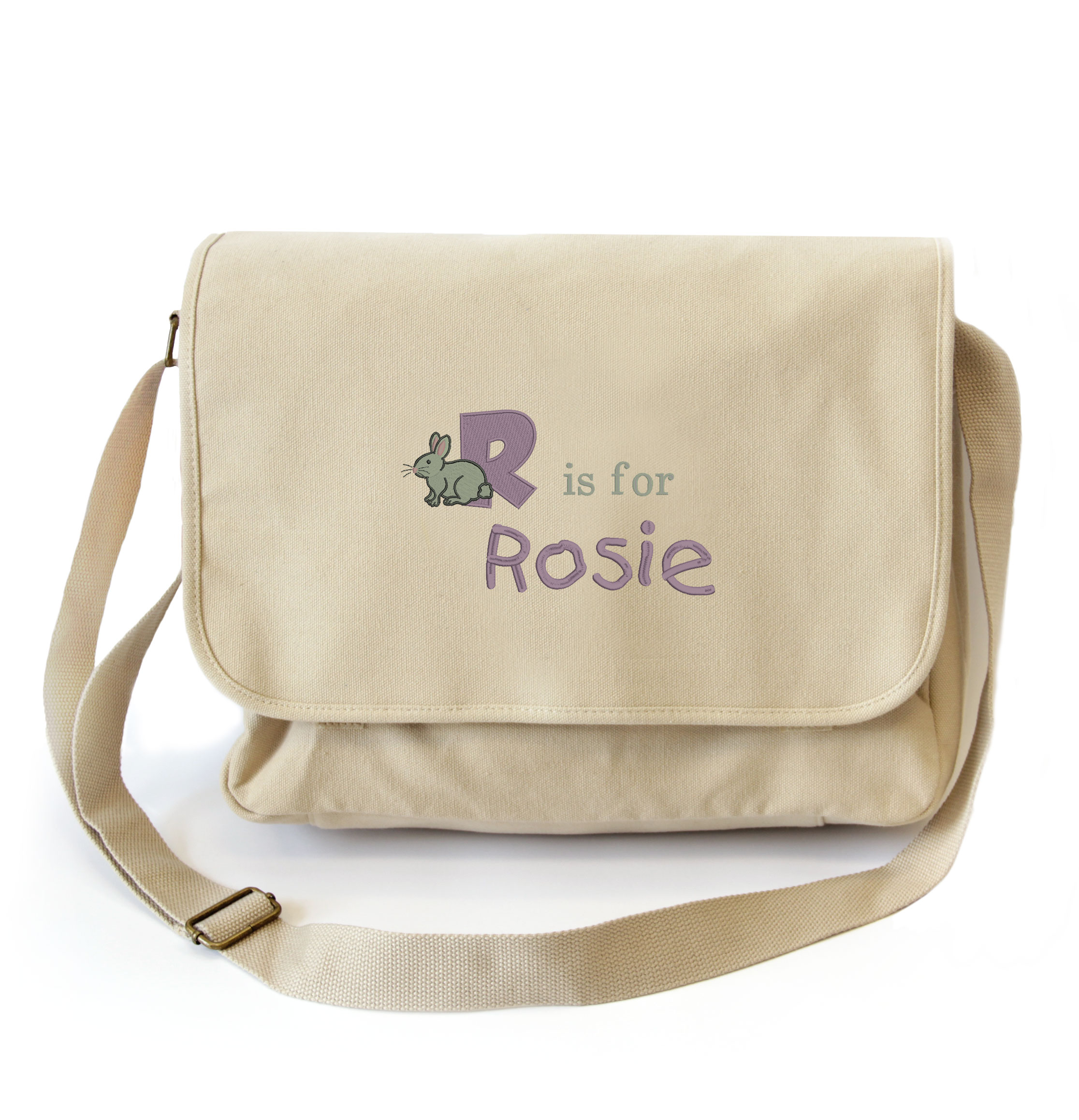 Canvas Alphabet Baby Changing Bag Withcongratulations