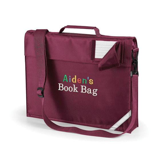 back to school personalised book bag with your child u0026 39 s name
