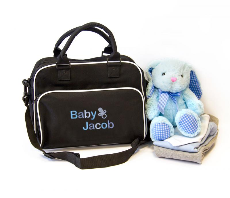 5e9d1d2a3326a Personalised Baby Travel / Nappy Changing Bag (Dummy ...