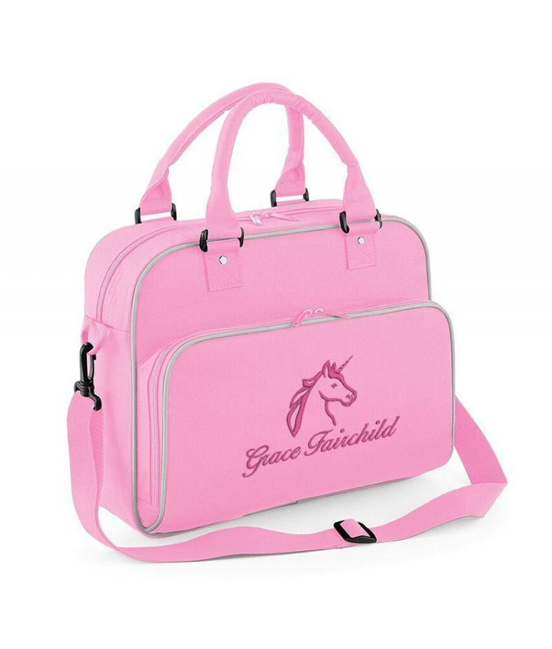 Personalised Unicorn Junior Holdall Bag Withcongratulations