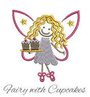 Fairy with cupcakes