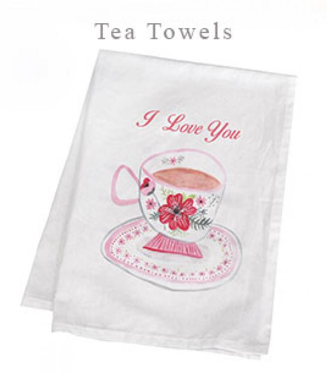 printed tea towels