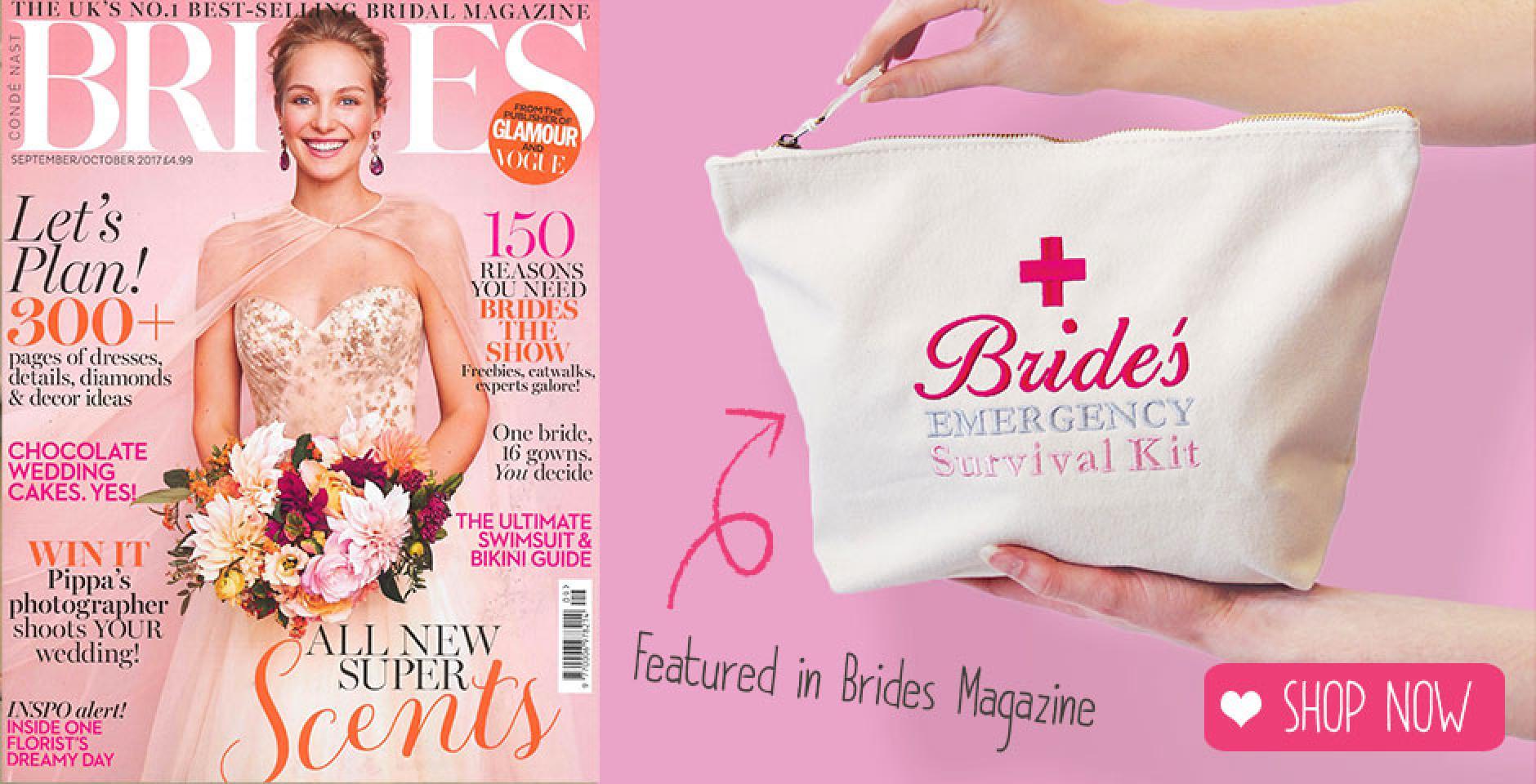 Brides Survival Bag Featured in Brides Magazine