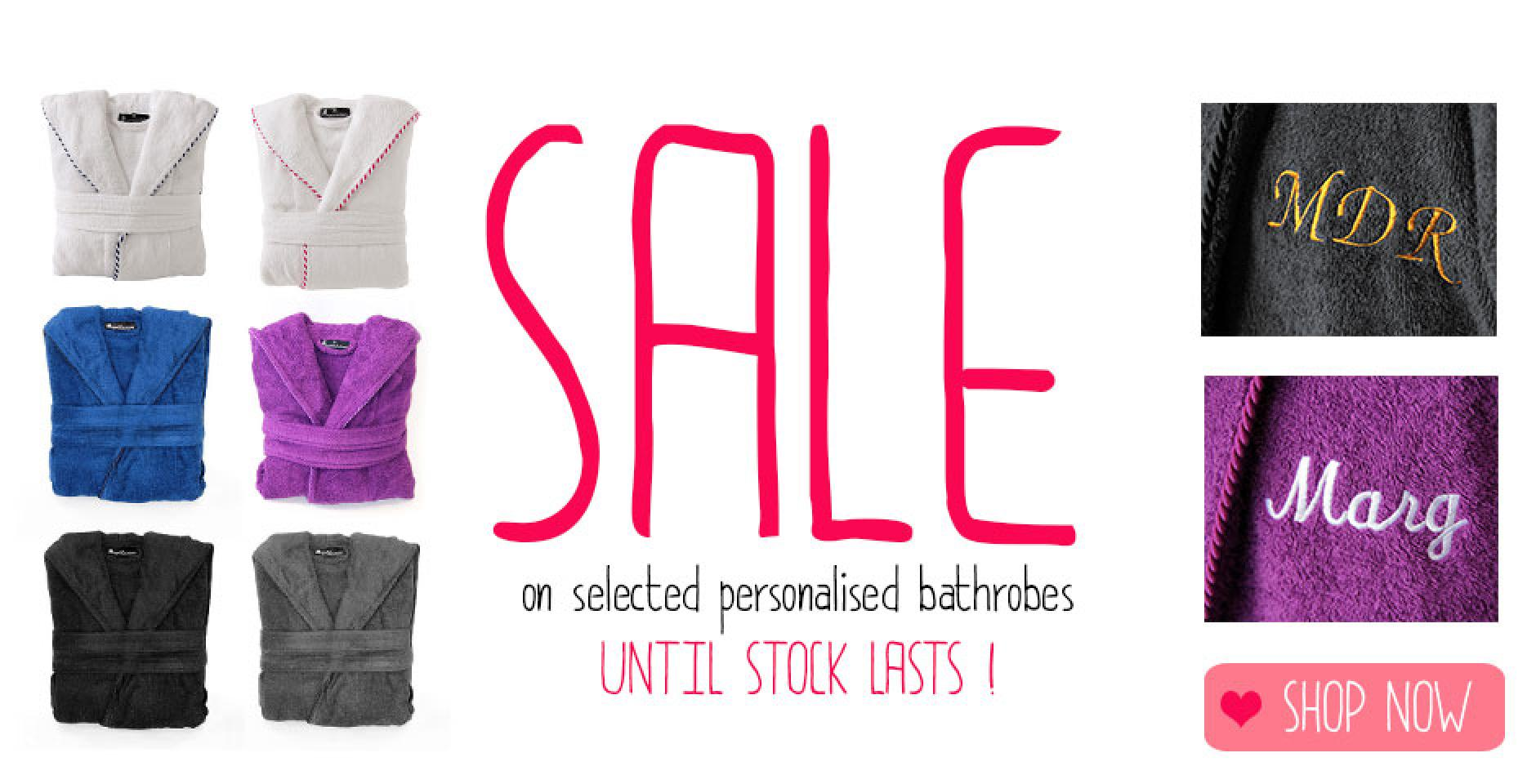 sale personalised dressing gowns