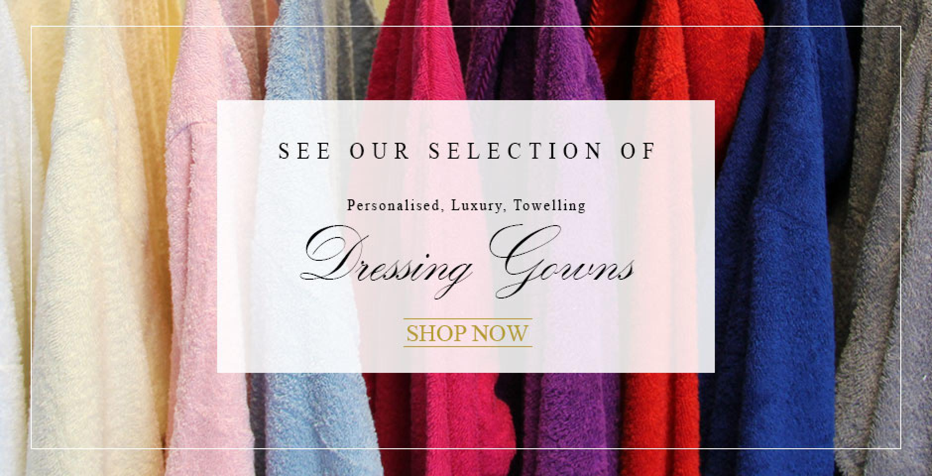 personalised towelling dressing gowns
