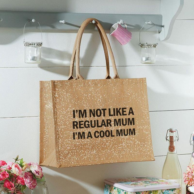 Printed Jute Bag - I 'm a Cool Mum