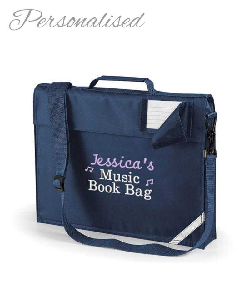 Personalised Music Lesson Book Bag with your Child's Name
