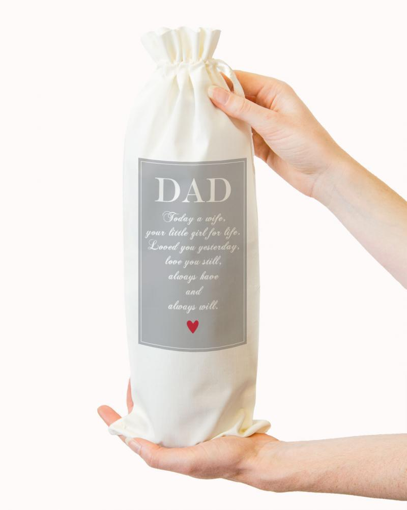 Wedding Father of the Bride Wine Bottle Gift Bag