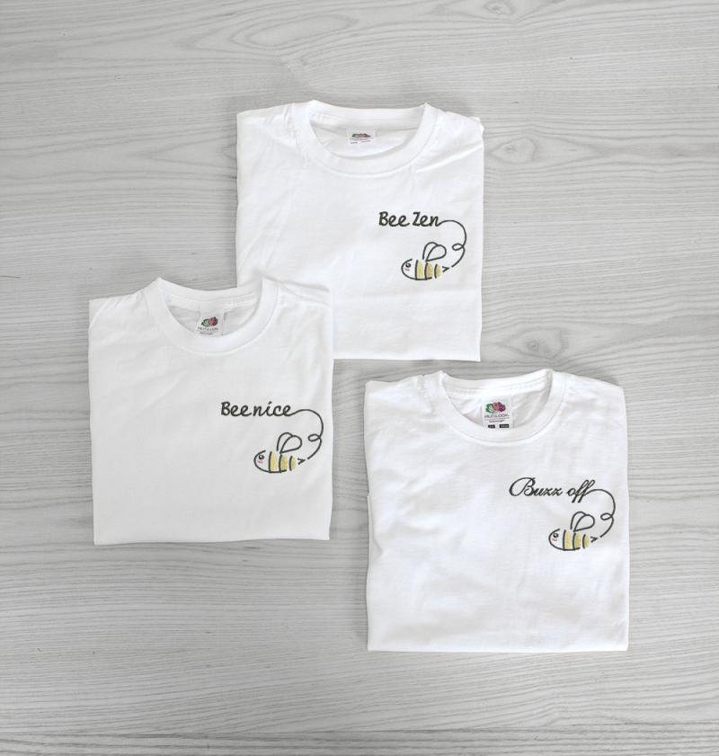 Embroidered Bee T-shirts Uk