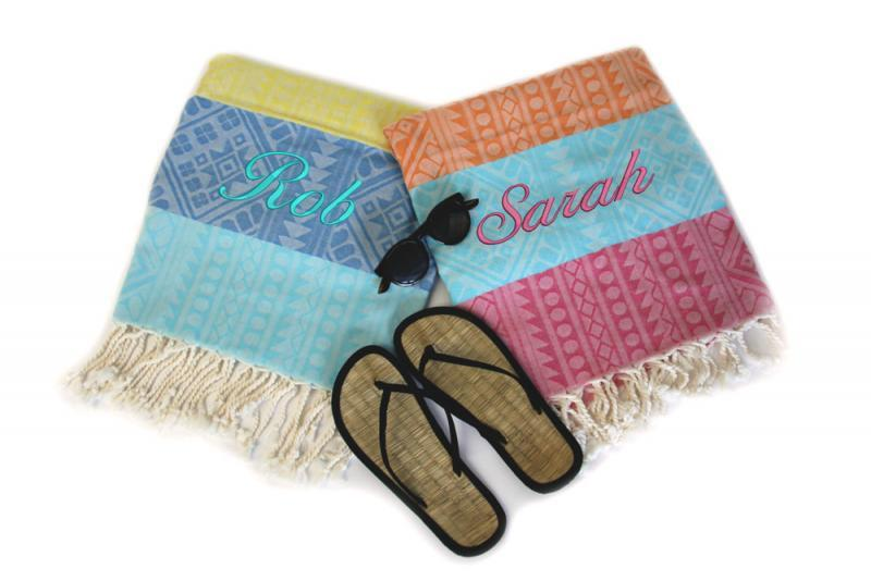 His and hers beach towels