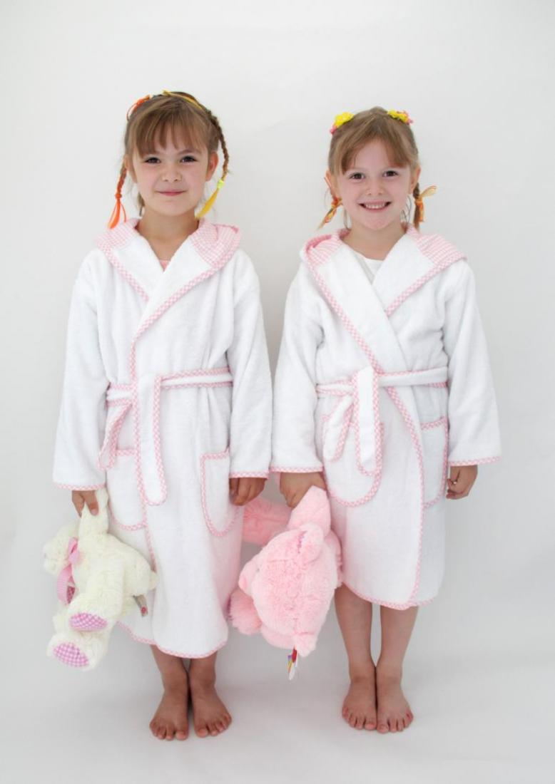e640d6ba357e7 Personalised Girls Dressing Gown, Pink Gingham | WithCongratulations