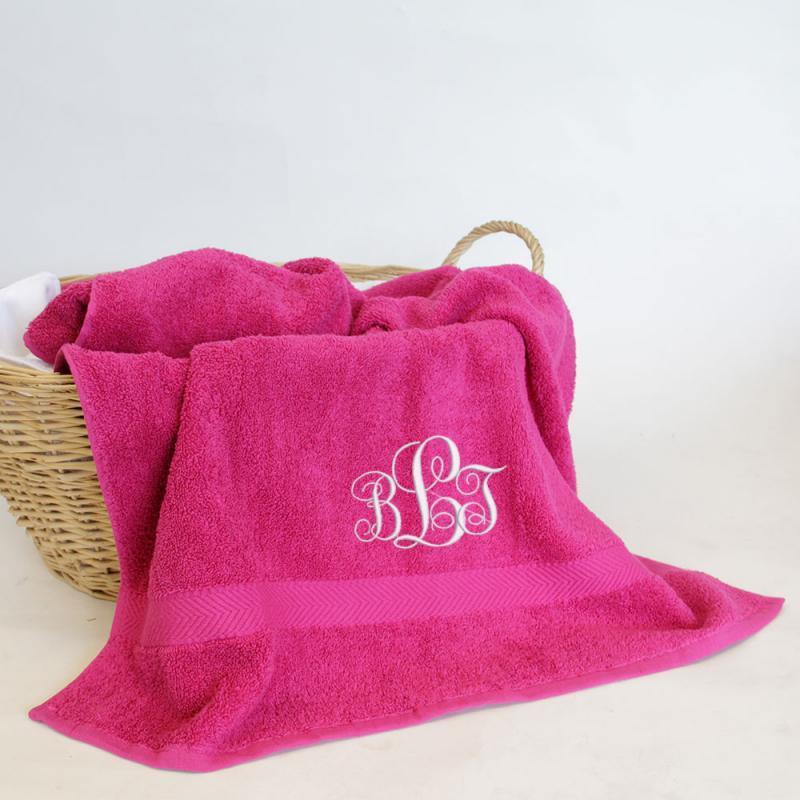 Personalised monogram towel
