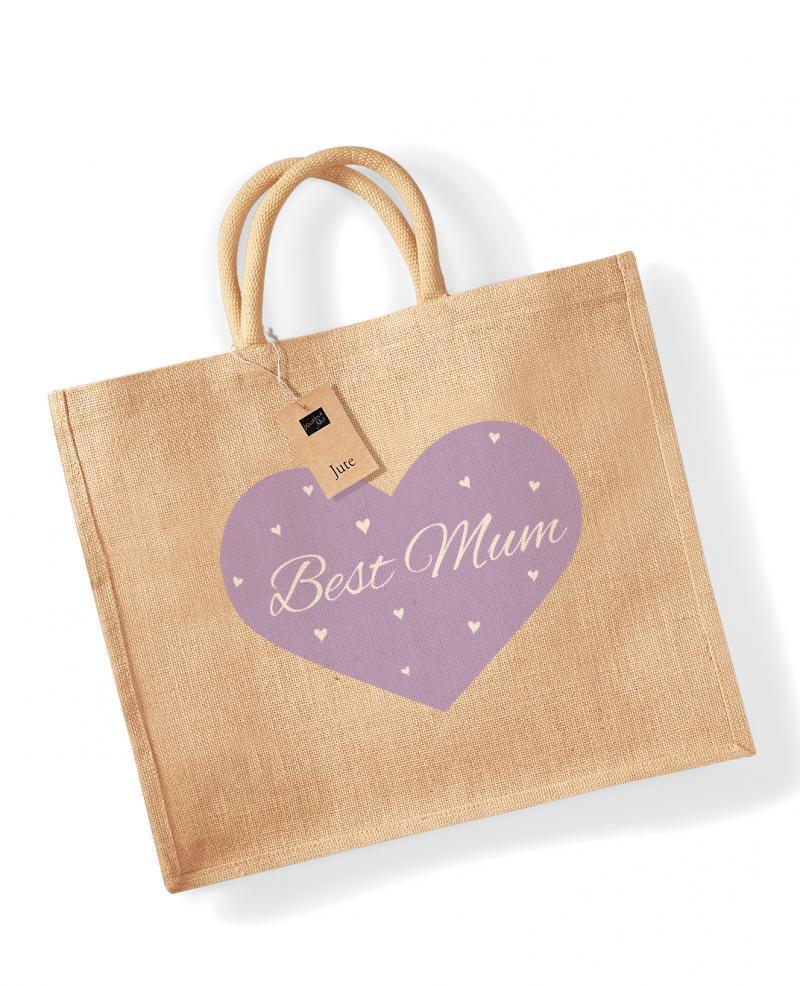 'Best Mum' Jute Bag